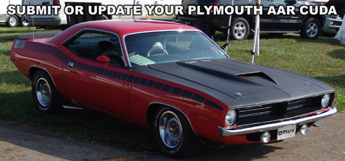 Submit Or Update Your Plymouth AAR Cuda